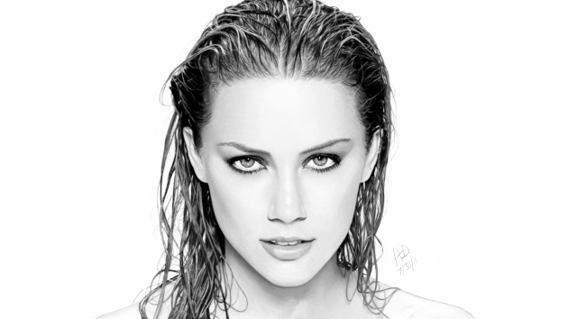 "Drawing of Amber Heard ""Edited"""