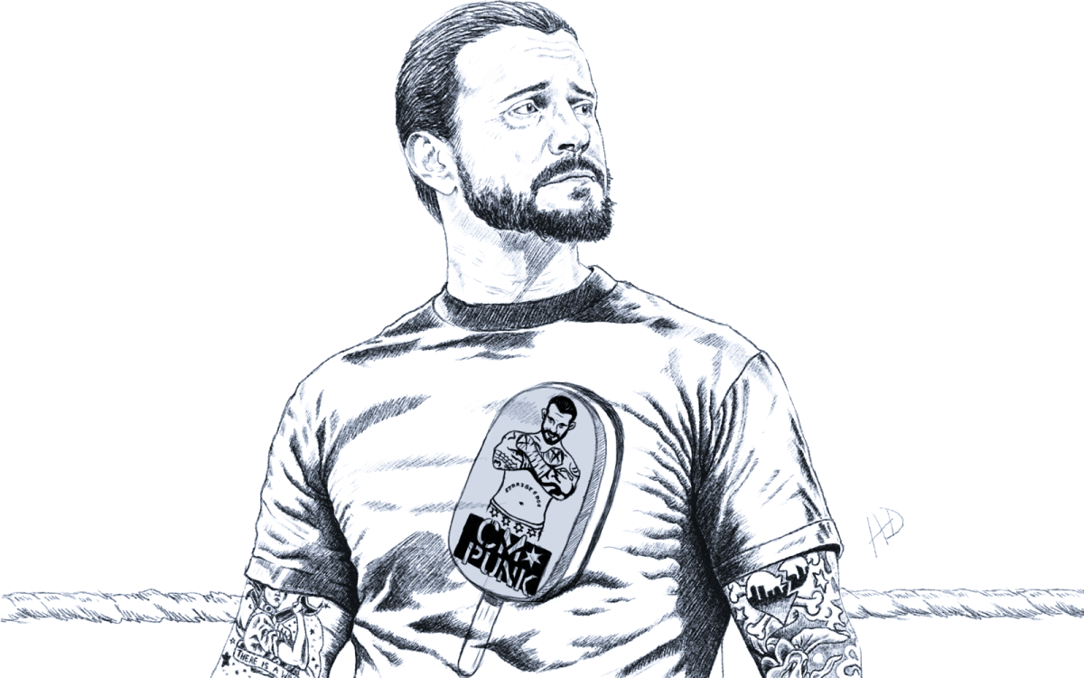 drawing of cm punk iamafanof