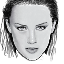 WIP Drawing of Amber Heard
